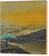 Dawn On The Savannah Wood Print