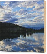 Dawn Over Big Sky Wood Print