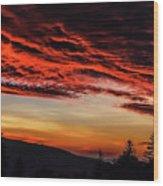 Dawn Over Big Spruce Knob Wood Print