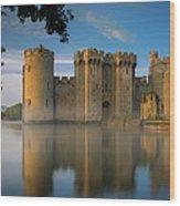 Dawn Over Bodiam Castle Wood Print