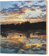 Dawn Over Boerne Creek Wood Print