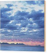 Dawn Over False Bay 2 Wood Print
