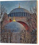Dawn Over Hagia Sophia Wood Print