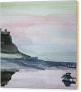 Dawn Over Lindisfarne. Wood Print