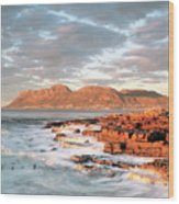 Dawn Over Simons Town South Africa Wood Print