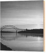 Dawn Over The Cape Cod Canal Wood Print