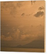 Dawn Over The Volcano 3 Wood Print