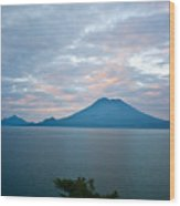 Dawn Over The Volcano 4 Wood Print