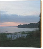Dawn Over West Cove Wood Print