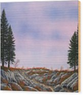 Dawn Pacific Crest Trail Wood Print