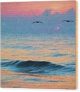 Dawn Patrol Wood Print by JC Findley