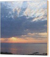 Dawn Sun Rays Wood Print
