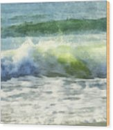 Dawn Wave Wood Print