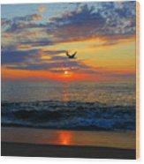 Dawning Flight Wood Print