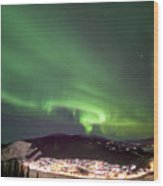 Dawson City Lights Wood Print