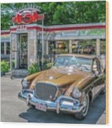 Day At The Diner Wood Print