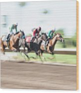 Day At The Races Wood Print