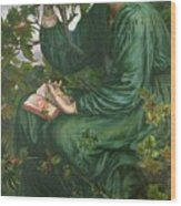 Day Dream Wood Print by Dante Charles Gabriel Rossetti