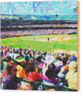 Day Game At The Old Ballpark Wood Print