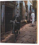 Day In Varanasi Wood Print