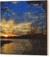 Day Is Done Wood Print