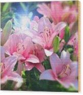 Day Light Lilies Wood Print