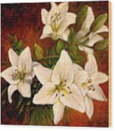Day Lilies Wood Print