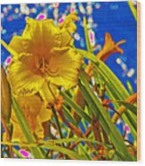 Day Lilies In The Sky With Diamonds  Wood Print