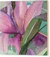 Day Lily Pink Wood Print