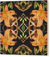 Day Lily Square Dance Wood Print