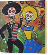 Day Of The Dead Bailar Wood Print
