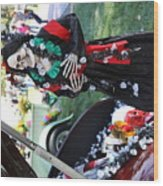 Day Of The Dead Car Trunk Skeleton  Wood Print