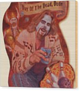 Day Of The Dead Dude Wood Print