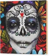 Day Of The Dead Wood Print