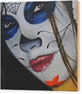 Day Of The Dead Girl Wood Print by Alex Rios