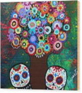 Day Of The Dead Love Offering Wood Print