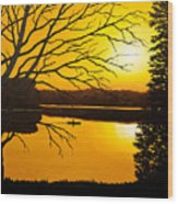 Day On The Lake Wood Print