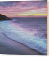 Daybreak At Caswell Bay Wood Print