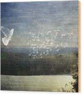 Daybreak At Cedar Hill Wood Print