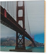 Daybreak At The Golden Gate Wood Print