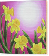 Daybreak Daffodils Wood Print