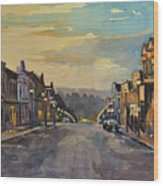 Daybreak In Mineral Point Wood Print