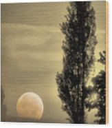 Daybreak On A Country Road Wood Print