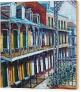 Daybreak On St. Ann Street Wood Print