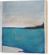 Daybreak On The Beach Wood Print