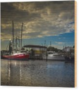 Daybreak On The Captain Jack Wood Print