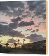 Daybreak Sky In Florida Wood Print