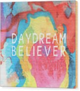 Daydream Believer- Abstract Art By Linda Woods Wood Print