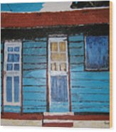Daydreaming Blues Wood Print
