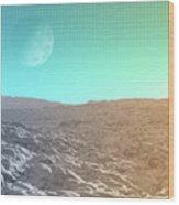 Daylight In The Desert Wood Print